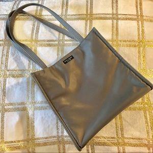 Authentic Kate Spade Gray/silver Nylon Shopper